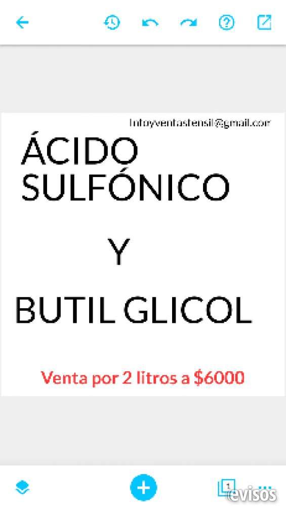 Ácido sulfónico y butil glicol