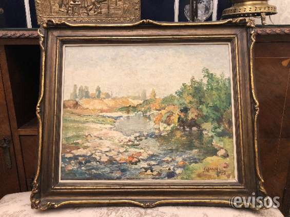 Cuadro óleo antiguo pintor cseney cheney 1953