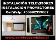 Instalacion proyector data show televisores viña del mar
