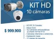KIT 10  CAMARAS DE SEGURIDAD