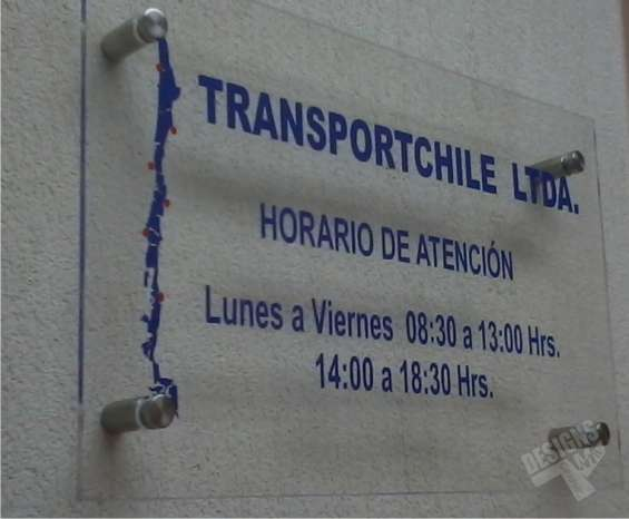 Letreros acrílicos ciudad santiago