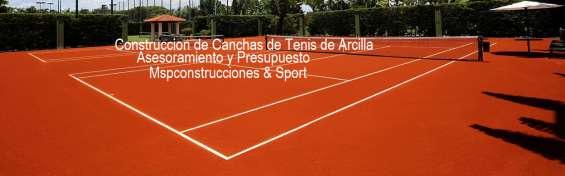 Diseño y construcción de canchas de tenis,arcillas,asfalto