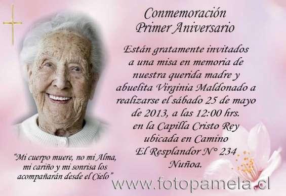 Fotos de Comprar tarjetas condolencias defuncion en santiago providencia
