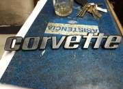 Logo maleta Chevrolet Corvette original metálico