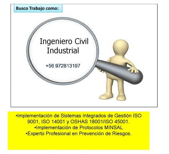 Ingeniero civil industrial sig/sgc ofrecese