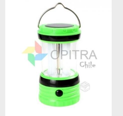 Lámpara led camping energía solar