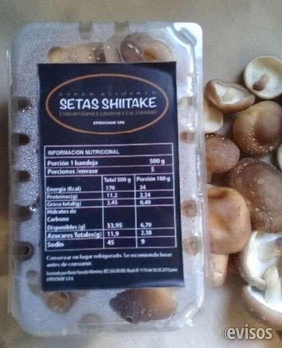 Champiñón gourmet shiitake cultivado