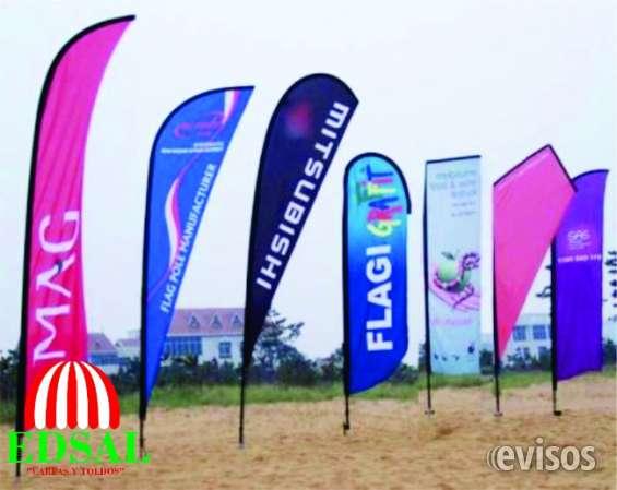 Costuras de banderas publicitarias