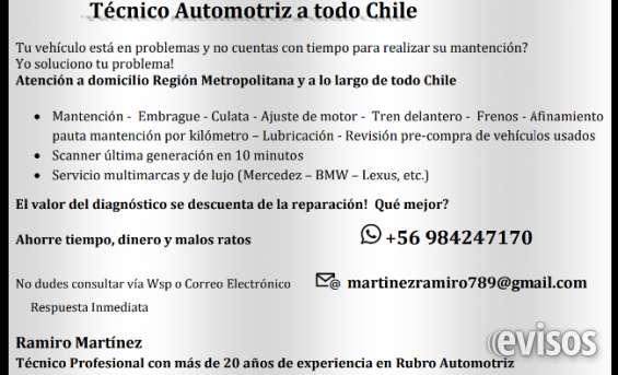 Tecnico automotriz profesional de caidad..