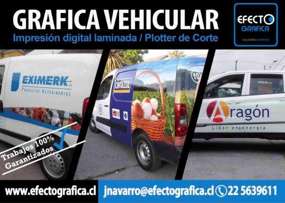 Impresion e instalacion de grafica vehicular