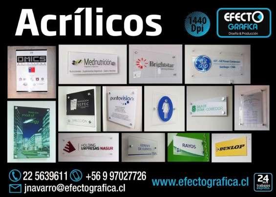Letreros de acrilico para oficinas