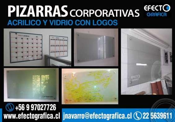 Pizarras corporativas de vidrio y acrilico