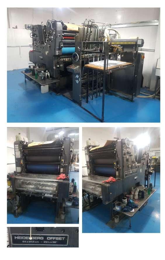 Heidelberg bicolor 64x91.5cm. rodillos y rodamientos renovados en ambos cuerpos. funcionando completamente a toda prueba. precio  $ 13.500.000 conversable