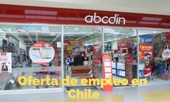 Abcdin – 125 áreas libres de trabajo en chile
