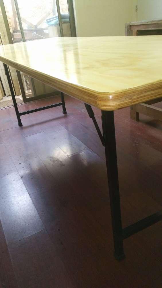 Fotos de Mesa mesón plegable multipropósito madera-metal 6