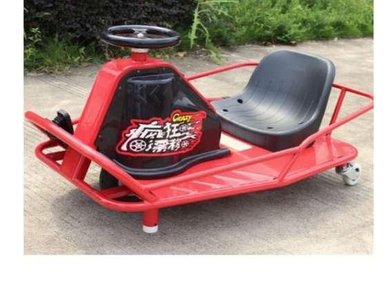 Crazy cart electrico 8 anos carro de derrape