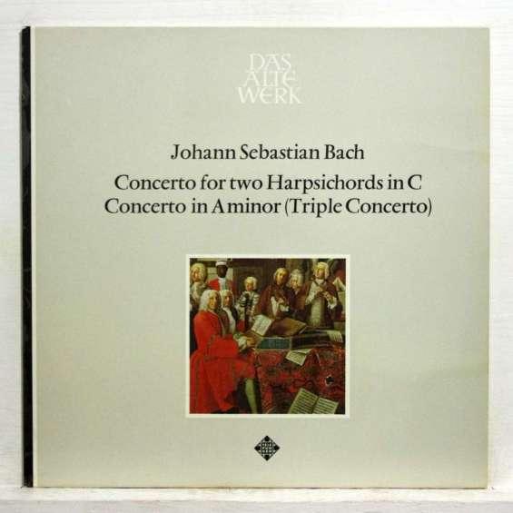 gustav leonhardt / frans bruggen / uittenbosch  -  j.s. bach - concerto for two harpsichords in c
