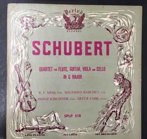 Franz schubert ?– quartet for flute, guitar, viola & cello in g major