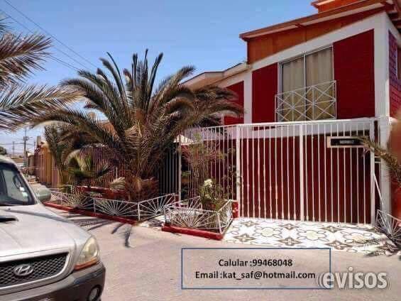 Arriendo casa amoblada sector playa chinchorro villa john wall (2pisos)