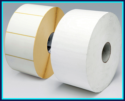 Etiquetas adhesivas en rollo blancas, inventario