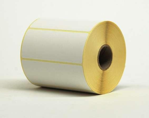 Etiquetas adhesivas en rollo blancas, transfer