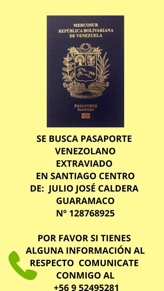 Pasaporte venezolano extraviado