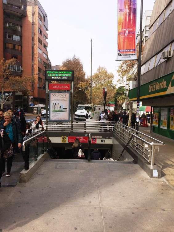 A pasos del metro tobalaba