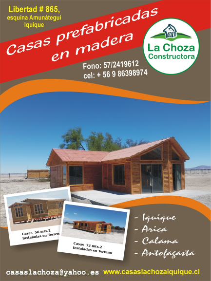 Casas prefabricadas la choza iquique