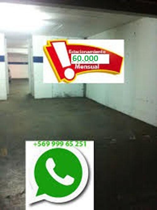 Arriendo estacionamiento santiago centro