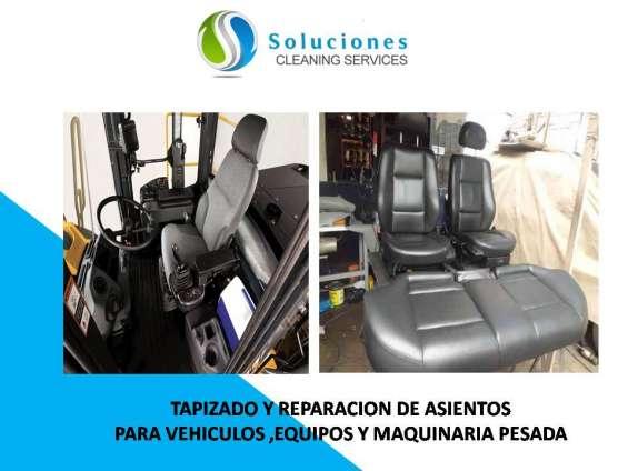 Tapizado de asientos vehiculos y maquinaria