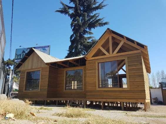 Oferta! kit básico casa de 54 mts madera tinglada + puertas + ventanas + viga a la vista + cielo