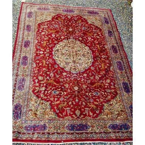 Antigua fina alfombra persa 2 x 3 mts.