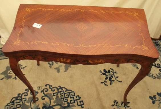 Fina antigua mesa plegable arrimo - francesa