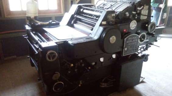 Vendo maquinas de imprenta
