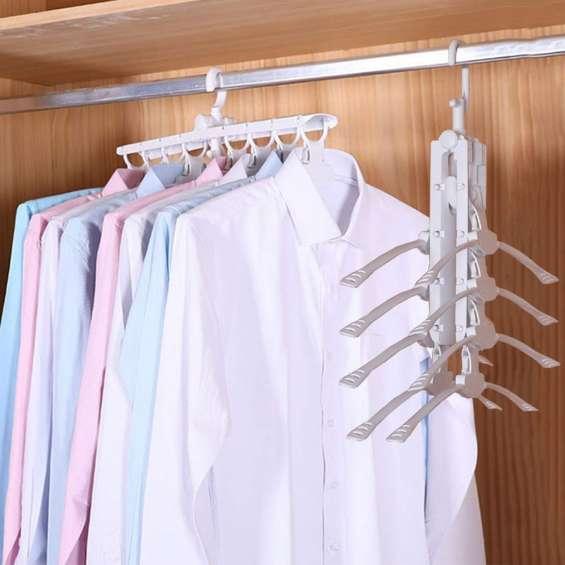 Perchero 8 en 1 organizador de camisas perchas flexible deco