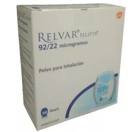 Relvar ellipta 92/22 (polvo para inhalación)