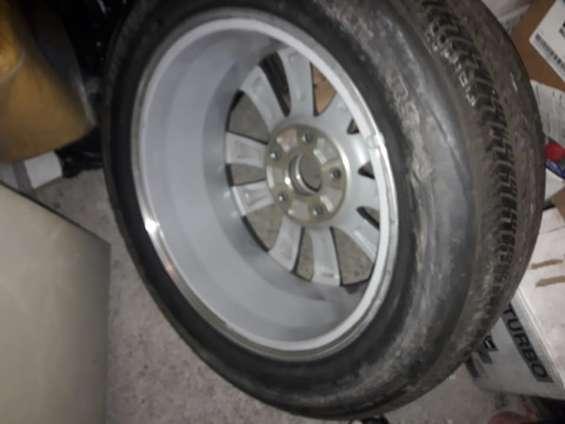 2 llantas de magnesio y neumático para honda civic aros 15 y 16