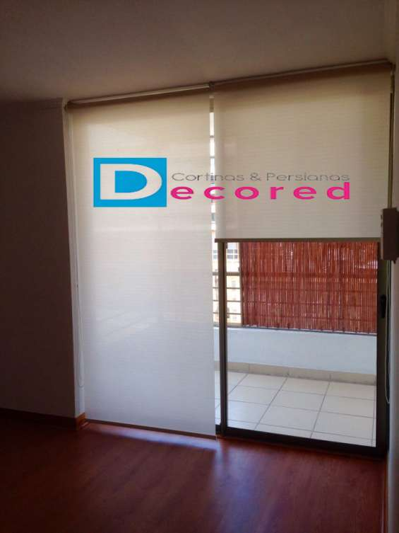 Cortinas roller rústica decored