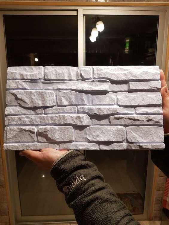 4 moldes pvc muro granito stone