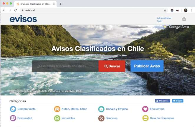 evisos.cl ofrece clasificados para todo Chile.