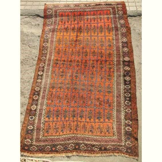Fina antigua alfombra hecha a mano - persa 110 x 195 cms