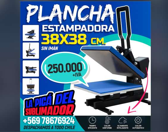 Plancha estampadora 38x38
