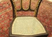 6 antiguas sillas francesas * policromadas