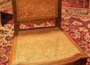 Antiguas  sillas francesas  enjuncadas ( par )