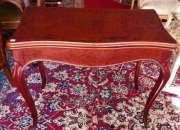 Fina  antigua mesa plegable francesa ( arrimo )
