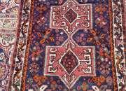 Fina pequeña alfombra persa 125 x 80