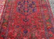 Fina pequeña alfombra persa 220 x 125