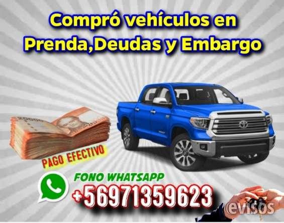 Yo compro tu vehículo con deuda o embargo