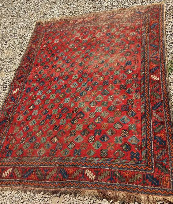Antigua alfombra tapiz persa * 184 x 146 cms