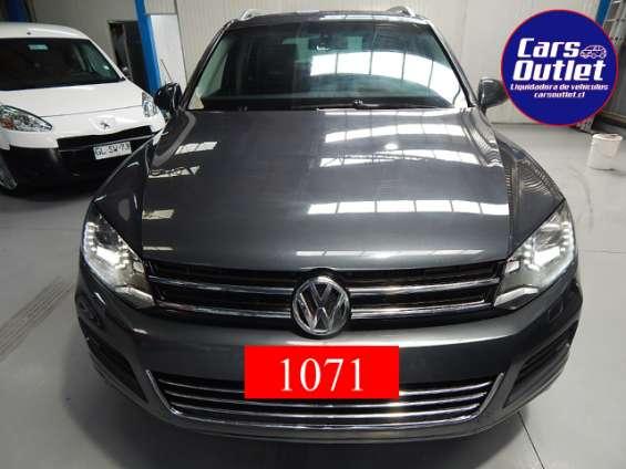 Volkswagen touareg tdi 4wd 3.0 aut 2011 $12.690.000 jeep gris silex oscuro diésel km 79.334 full equipo www.carsoutlet.cl